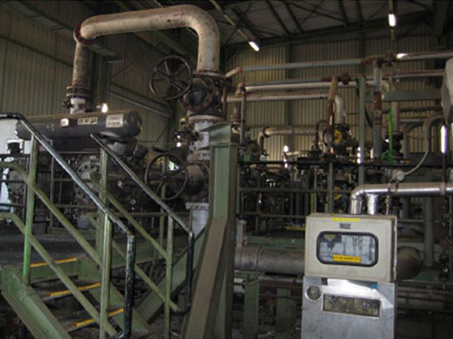 Compressor plant for unburnt gas